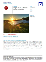 India 2020: Utilities & Renewables - Make Way for the Sun