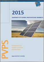 IEA PVPS Report: A Snapshot of Global Photovoltaics Markets 2015