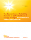 The Economic and Reliability Benefits of CSP with Thermal Energy Storage: Recent Studies and Research Needs 2012
