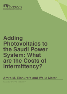 Adding photovoltaics to the Saudi power system: What are the costs of intermittency?