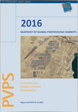 IEA PVPS Report: A Snapshot of Global Photovoltaic Markets 2016