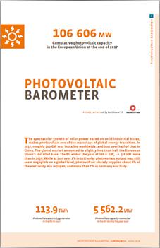 Photovoltaic Barometer 2018