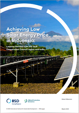 Achieving Low Solar Energy Price in Indonesia