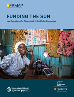 Funding the Sun: New Paradigms for Financing Off-Grid Solar Companies