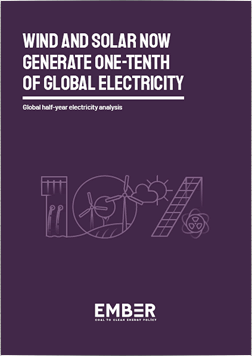 Wind And Solar Now Generate One-Tenth Of Global Electricity