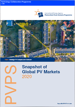 IEA PVPS Report: A Snapshot of Global Photovoltaic Markets 2020