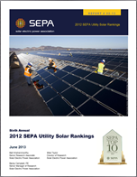 2012 SEPA Utility Solar Rankings. 6th Ed.