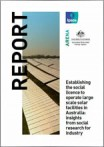 Establishing the social licence to operate large scale solar facilities in Australia: insights from social research for industry