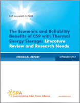 The Economic and Reliability Benefits of CSP with Thermal Energy Storage: Literature Review and Research Needs 2014