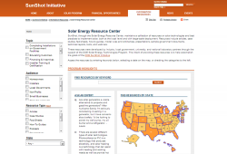 Solar Energy Resource Center